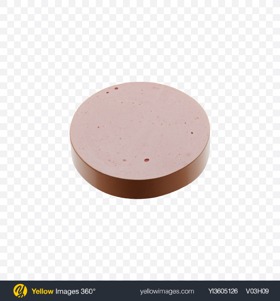 Download Short Sausage Slice Transparent PNG on Yellow Images 360°