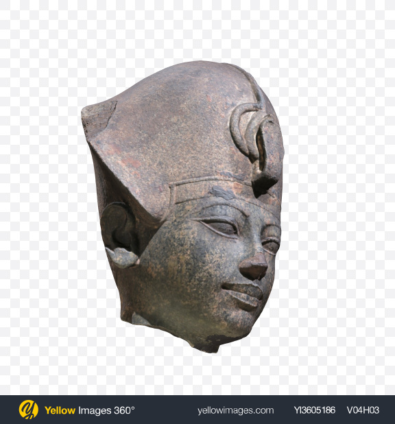 Download Heaf of Amenhotep Statue Transparent PNG on Yellow Images 360°