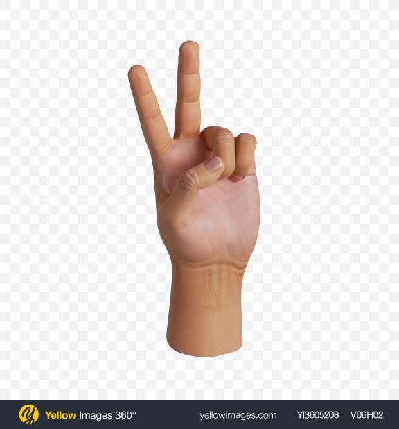 Download Human Hand Victory Gesture Transparent PNG on PNG Images