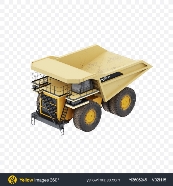 Download Haul Truck Transparent PNG on Yellow Images 360°