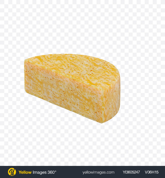 Download Half of Marble Cheese Transparent PNG on Yellow Images 360°