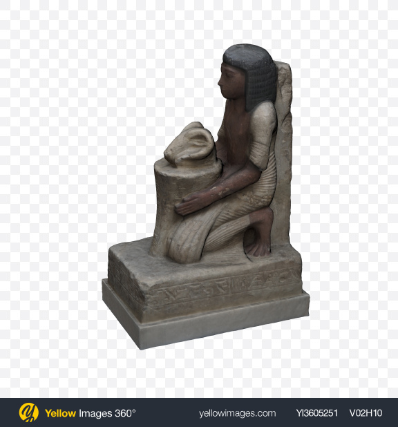 Download Egyptian Figurine Transparent PNG on Yellow Images 360°
