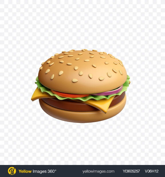 Download Burger Icon Transparent PNG on Yellow Images 360°