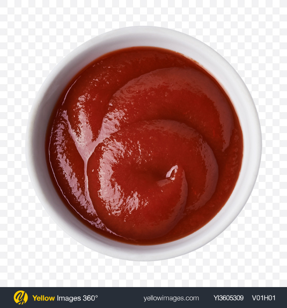 Download Ketchup in White Bowl Transparent PNG on YELLOW Images