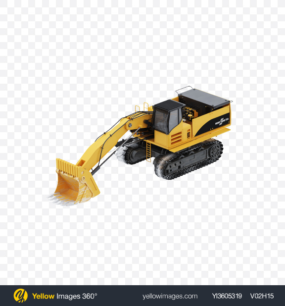 Download Crawler Excavator Transparent PNG on Yellow Images 360°