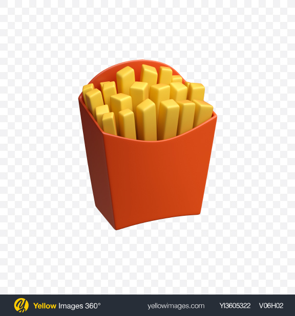 Download French Fries Icon Transparent PNG on YELLOW Images