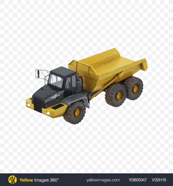 Download Dump Truck Transparent PNG on Yellow Images 360°