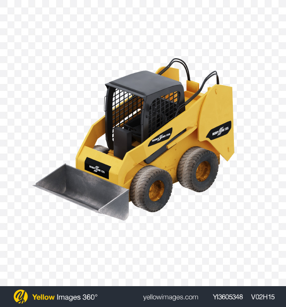 Download Compact Wheel Loader Transparent PNG on Yellow Images 360°