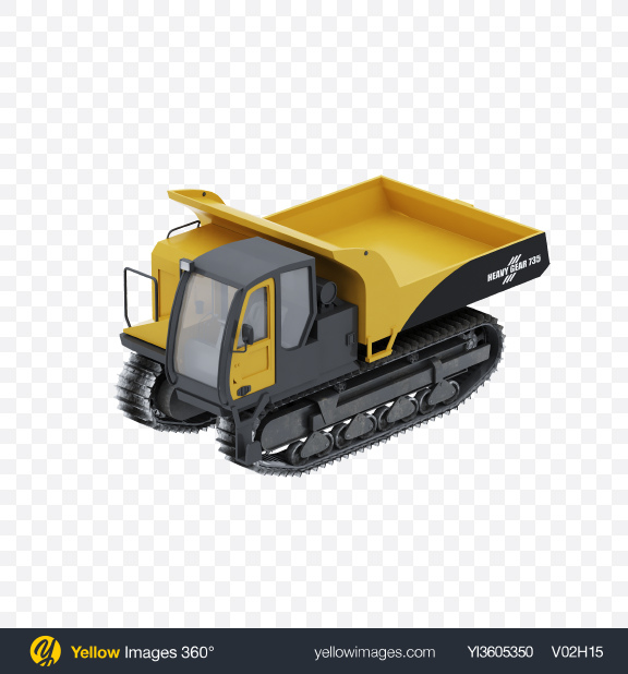 Download Crawler Dump Truck Transparent PNG on Yellow Images 360°