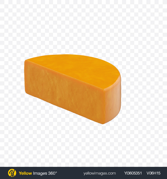 Download Half of Cheddar Cheese Transparent PNG on Yellow Images 360°