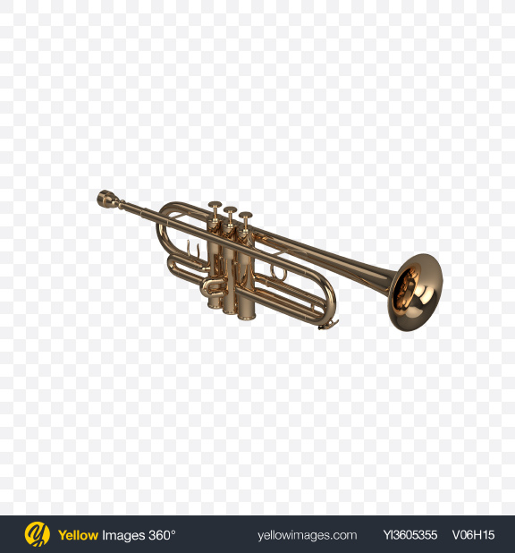 Download Trumpet Transparent PNG on Yellow Images 360°