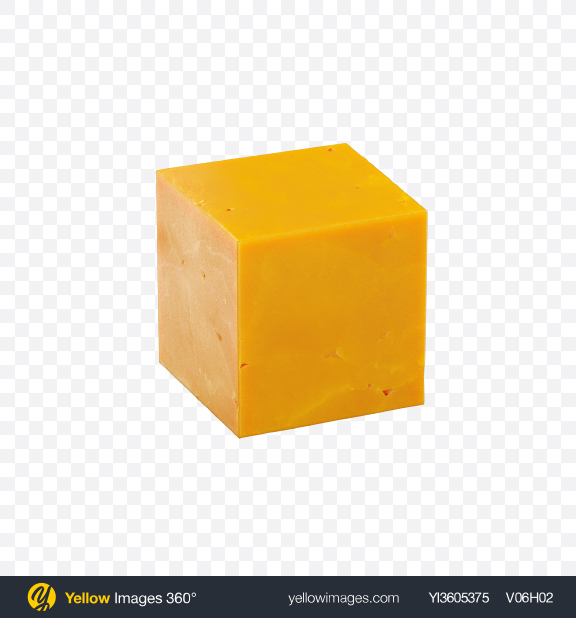Download Cheddar Cheese Cube Transparent PNG on Yellow Images 360°
