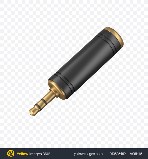 Download Audio Adapter Transparent PNG on Yellow Images 360°