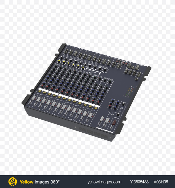 Download Analogue Mixer Controller Transparent PNG on YELLOW Images