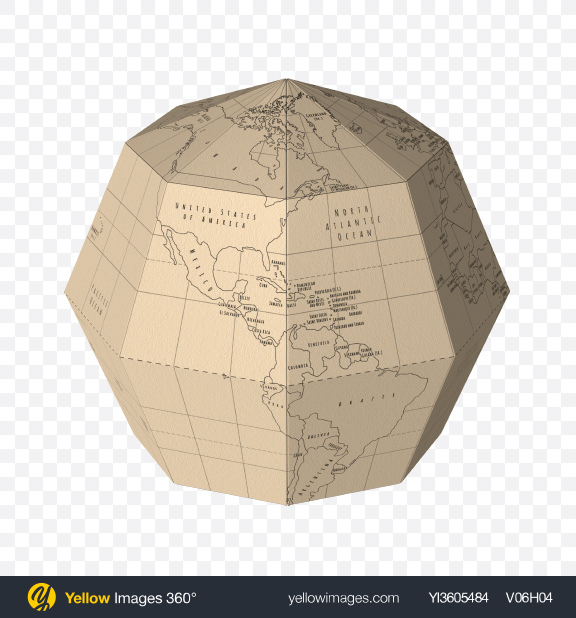Download Paper Globe Transparent PNG on Yellow Images 360°