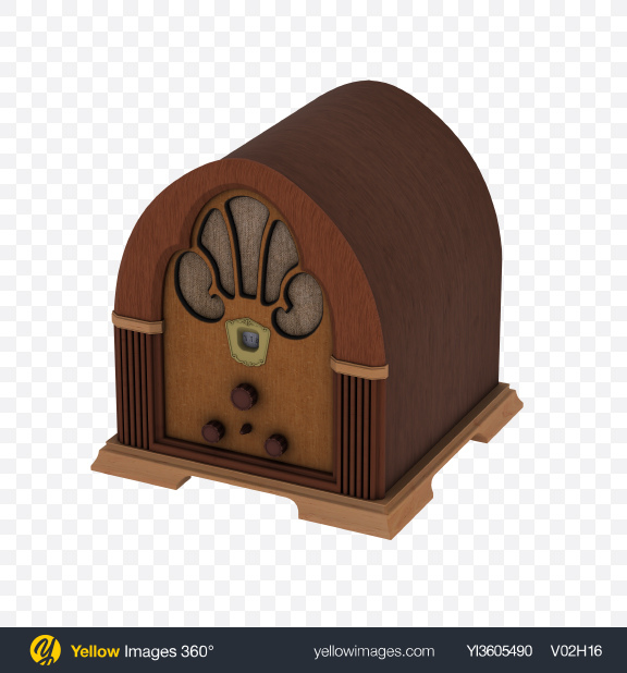 Download Retro Radio Speaker Transparent PNG on Yellow Images 360°