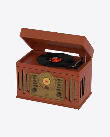 Retro Record Player with Radio Tuner
