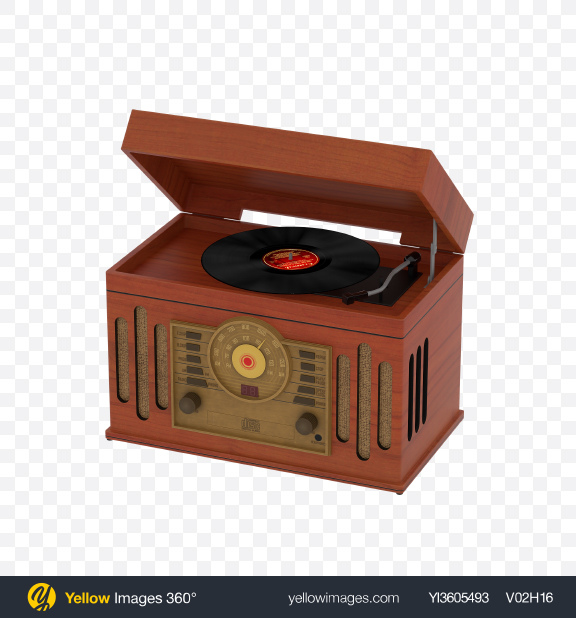 Download Retro Record Player with Radio Tuner Transparent PNG on PNG Images