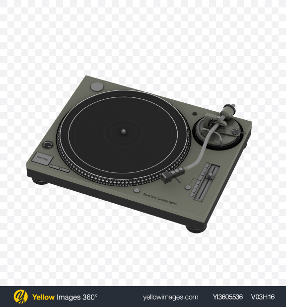 Download Turntable Record Player Transparent PNG on Yellow Images 360°