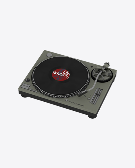 Turntable Record Player with Vinyl Record