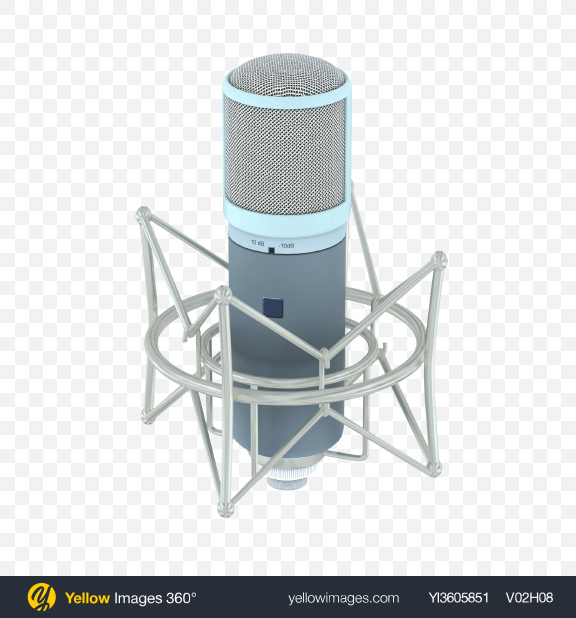 Download Studio Microphone Transparent PNG on YELLOW Images