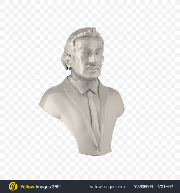 Download Salvador Dali Bust Transparent PNG on Yellow Images 360°