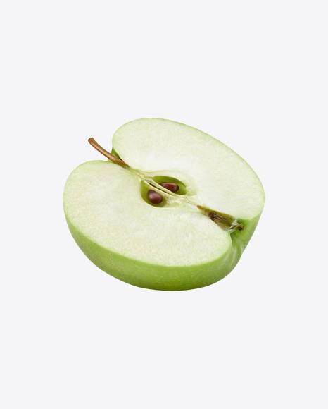 Half of Green Apple