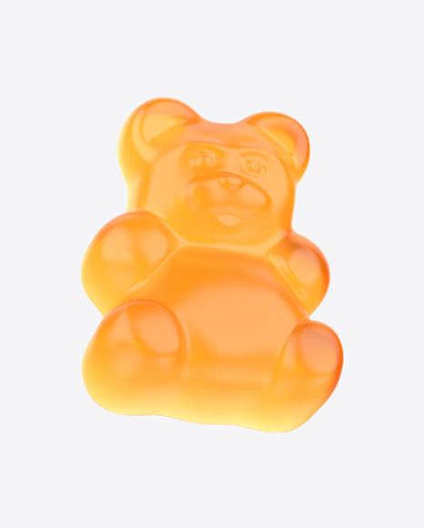 Orange Gummy Bear Candy