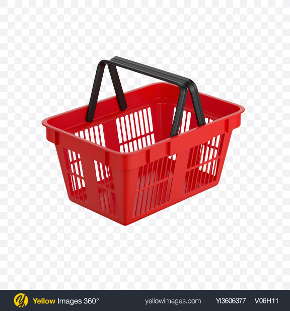 Download Red Shopping Basket Transparent PNG on YELLOW Images