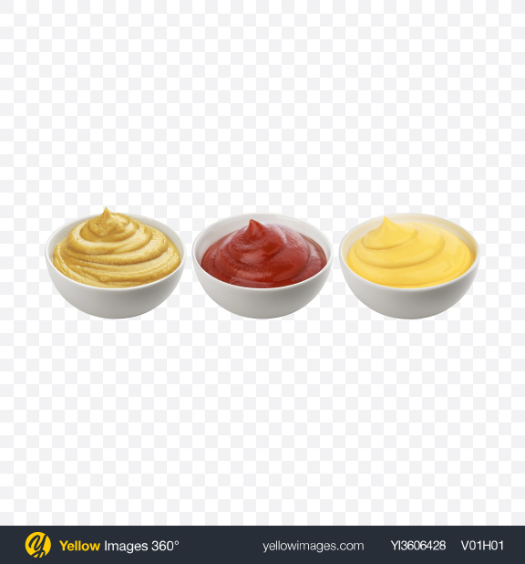 Download Sauces Set Transparent PNG on YELLOW Images