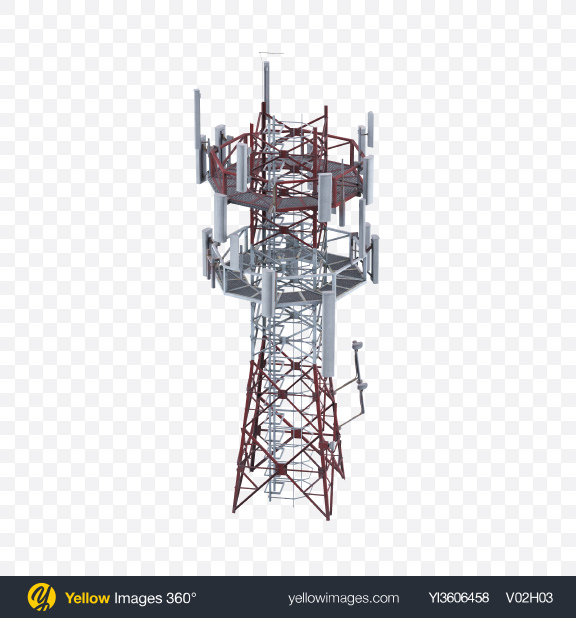 Download Antenna Tower Transparent PNG on Yellow Images 360°