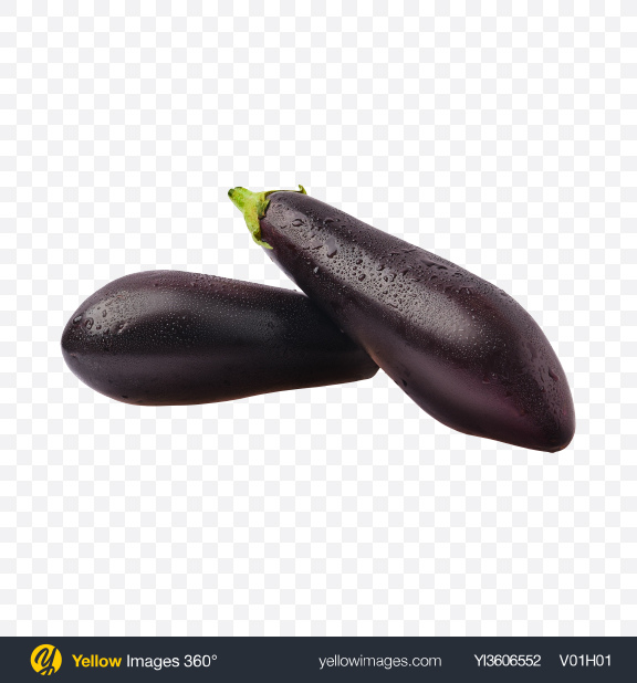 Download Eggplants w/ Water Drops Transparent PNG on YELLOW Images