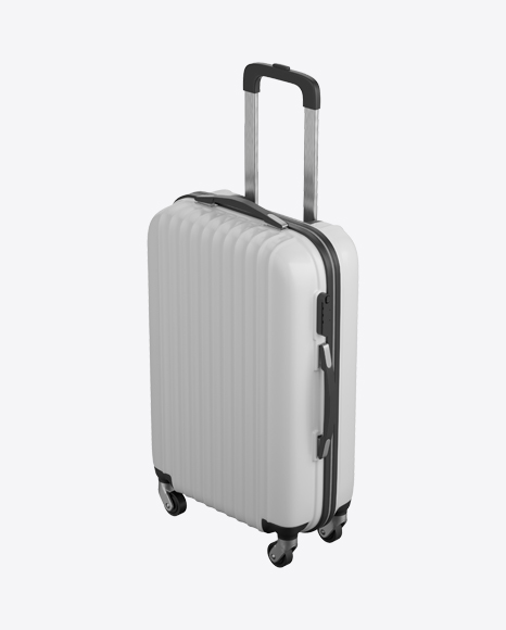 White Rolling Suitcase