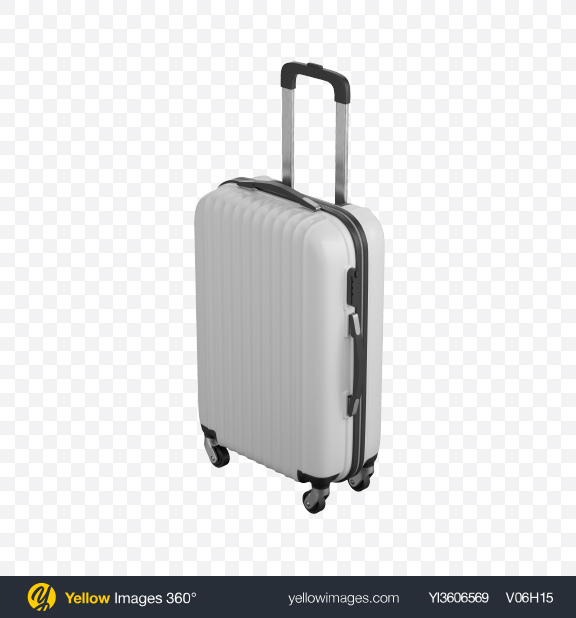 Download White Rolling Suitcase Transparent PNG on PNG Images