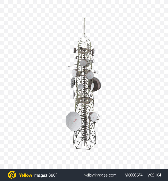Download Communication Antenna Transparent PNG on Yellow Images 360°