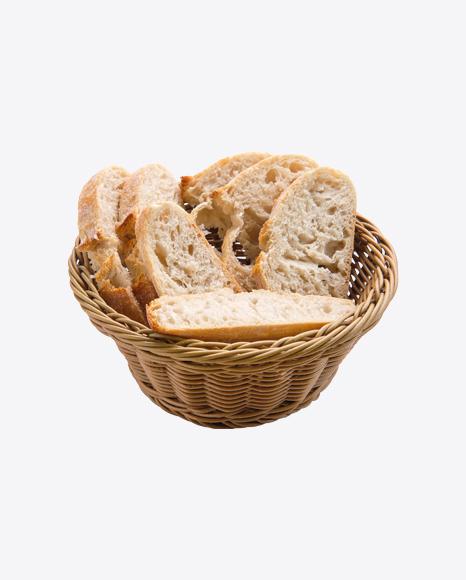 Ciabatta Bread Slices in Basket