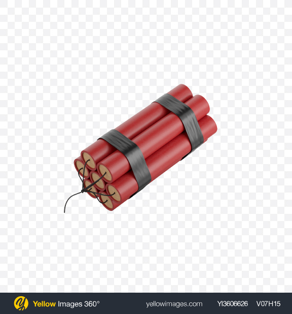 Download Dynamite Bomb Transparent PNG on Yellow Images 360°