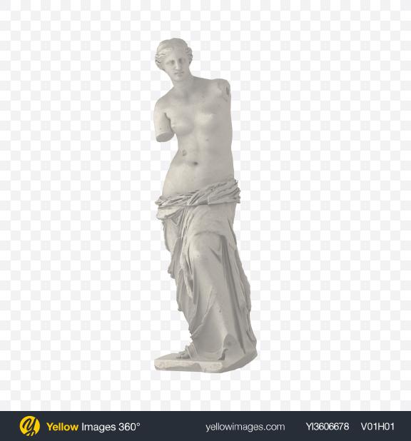 Download Venus de Milo Statue Transparent PNG on Yellow Images 360°