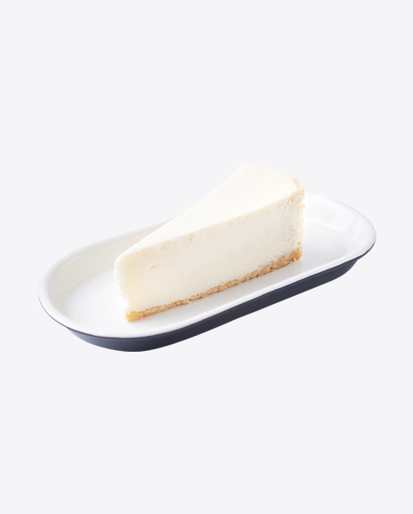 Piece of Cheese Cake on Plate