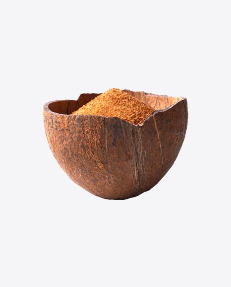Coconut Sugar in Coconut Shell