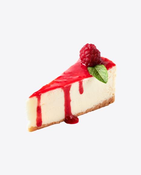 Piece of Raspberry Cheesecake