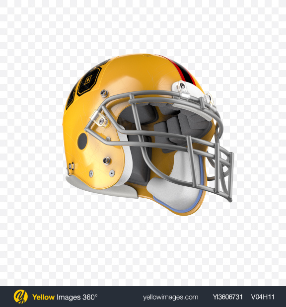 Download American Football Helmet Transparent PNG on Yellow Images 360°