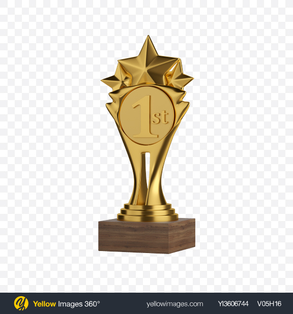 Download Golden Award Transparent PNG on Yellow Images 360°
