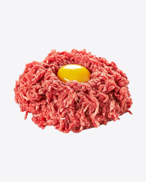 Raw Mince w/ Egg