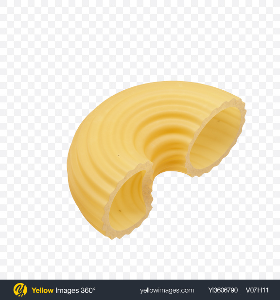 Download Pipe Rigate Pasta Transparent PNG on Yellow Images 360°
