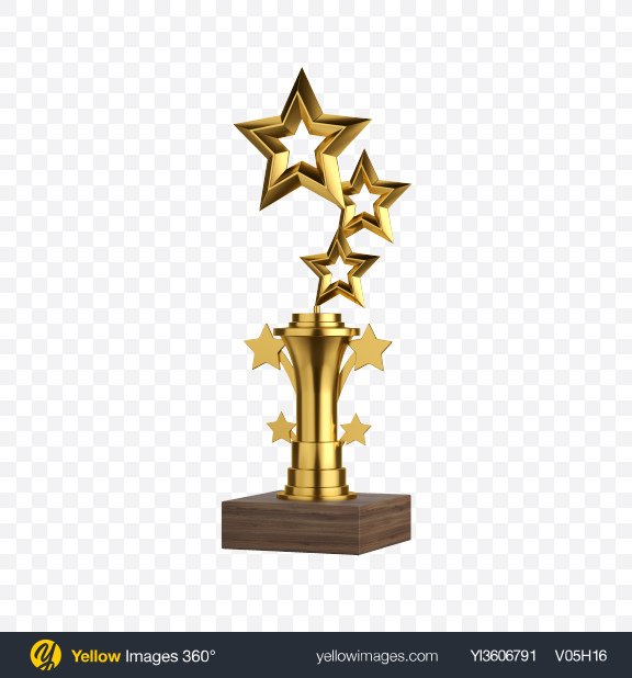 Download Golden Stars Award Transparent PNG on Yellow Images 360°