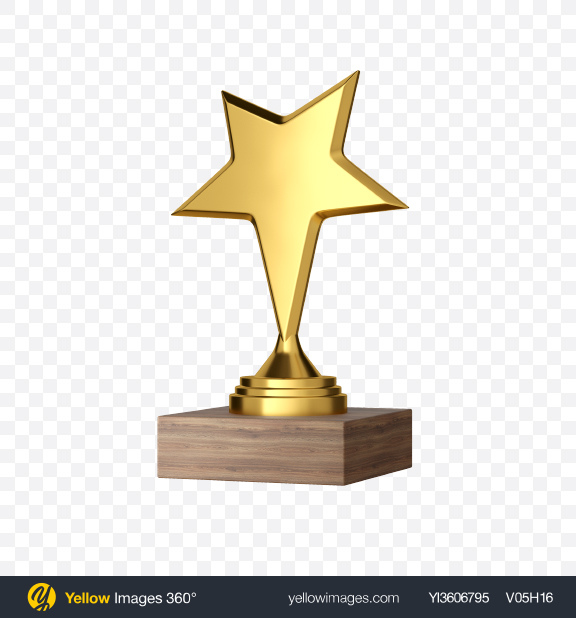 Download Golden Star Award Transparent PNG on Yellow Images 360°