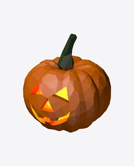 Low Poly Halloween Pumpkin