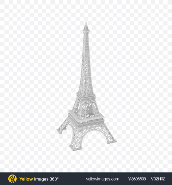 Download Eiffel Tower Figurine Transparent PNG on Yellow Images 360°