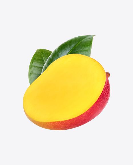 Half of Mango w/ Leaves
